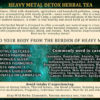 Heavy Metal Detox Herbal Tea Info